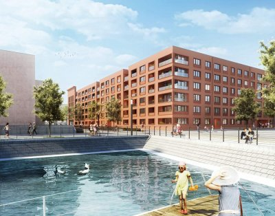 Building project WATERKANT im Zollhafen Mainz