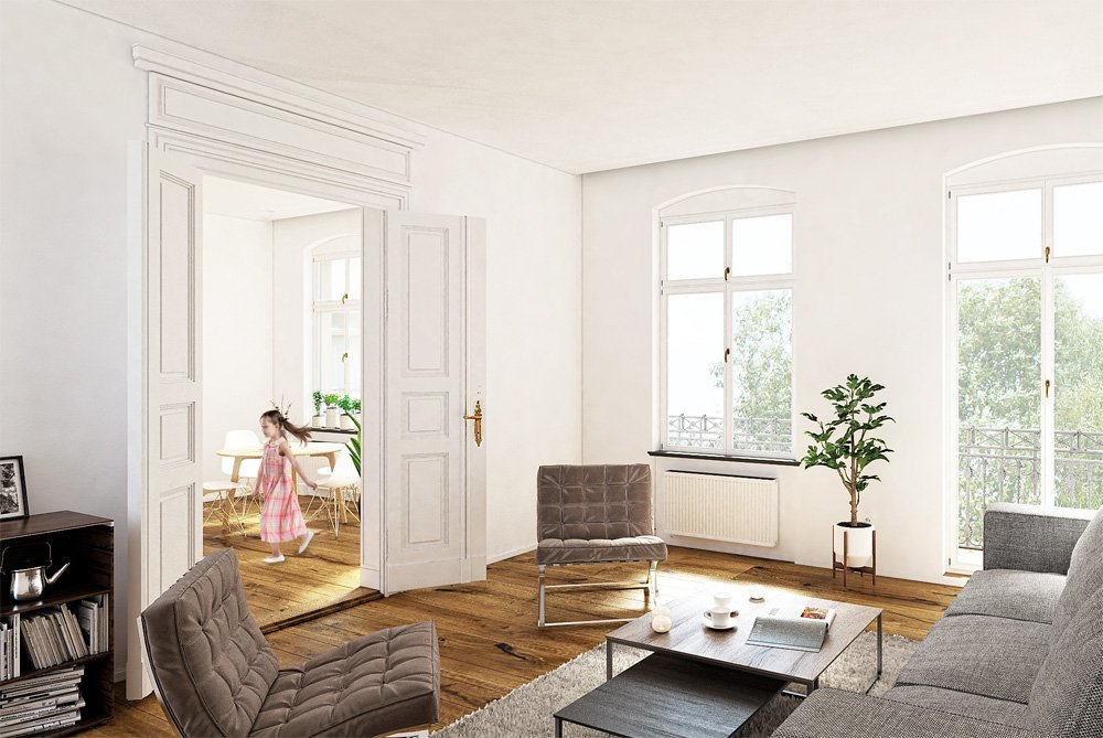 Pictures from new build and core renovation property development Am Park 75 Geschwister-Scholl-Straße 75, 14471 Potsdam FORTIS Real Estate Investment Berlin Potsdam